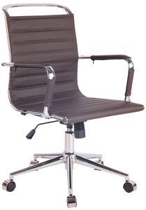 CLP Bürostuhl Barton höhenverstellbar und drehbar, Farbe:braun, Material:Kunstleder