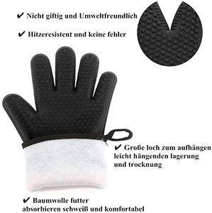 1 paar Silikon Ofen Handschuhe Hitze Beständig Mikrowelle Backen Mitt Kochen Werkzeug Anti-verbrühungen Handschuhe für Home Restaurant (schwarz)