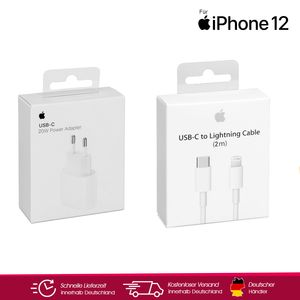 Original Apple iPhone 12 20w Ladegerät + 2m Ladekabel