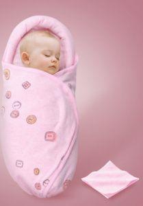 Grau-Wei/ß Pucksack Baby 0-3 Monate aus 100/% Bio-Baumwolle mit Reissverschluss Pucktuch f/ür Neugeborene Puckschlafsack 2er Pack