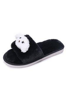 Kinder Slippers Slides Flache Schuhe Home Footwear Open Toe,Farbe: schwarz,Größe:22/23