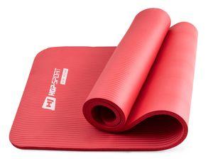 Hop-Sport Gymnastikmatte 1,5cm - rutschfeste Yogamatte für Fitness Pilates & Gymnastik - Maße 183cm Länge 61cm Breite  - rot