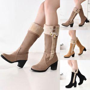 Damen Stiefel mit hohen Absätzen PolyurethanRunde Zehenstiefel,Farbe: Aprikose,Größe:39