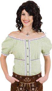 Trachtenbluse grün-weiß kariert Damen Tracht Oktoberfest Gr.42/44