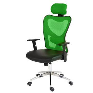 Profi-Bürostuhl Atlanta, Chefsessel Drehstuhl Schreibtischstuhl, Kunstleder  grün