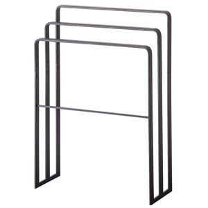 Yamazaki Home Handtuchhalter Handtuchständer schwarz Metall freistehend minimalistisch 70x81x14cm Tower 04980