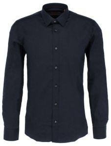 Hugo Boss EL Herren Hemd Extra Slim-Fit Hemd aus Stretch-Baumwolle, Konfektionsgrößen Herren Hemden:40, Hugo Boss:Open Blue