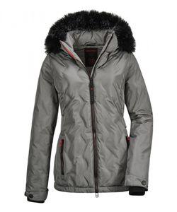 Killtec - Damen Jacke in Daunenoptik mit abzippbarer Kapuze, Vogar WMN Dwnlk JCKT A  (35772), Größe:42, Farbe:Mittelgrau (00225)