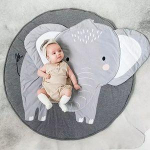 Baby Spiel Matte, Rund Spielmatte für Kinder Cartoon Bodenmatratze Klappmatratze Spielteppich Spielzelte Faltbare Matte