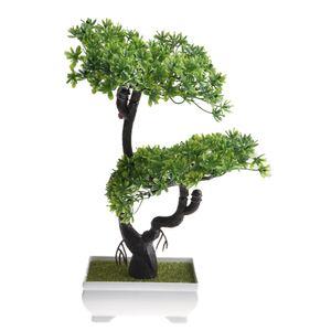 Shengyuan Künstlich Topfpflanzen Bonsai Dekoration klein, grün