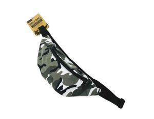 Gürteltasche Bauchtasche Hüfttasche mit Reißverschluss 1 Stück Camouflage Anker Flamingo Farbauswahl, Farbe:Grau