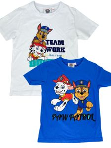 PAW PATROL - Jungen T-Shirt Motiv 2020 Chase + Marshall - Doppelpack Blau & Weiß, Größe:122/128