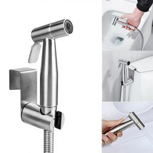Bidet Brause Halter Edelstahl WC Hand Duschkopf Intim Brause Dusche Kit Set Toilette Bad Bidet Set Waschbeckenbrause