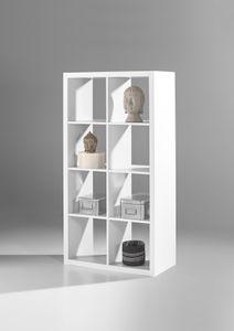 """Raumteiler Raumtrenner """"STYLE"""" 4/2 8 Fächer Regal Regalwand Wohnzimmerwand Bücherregal in weiß"""