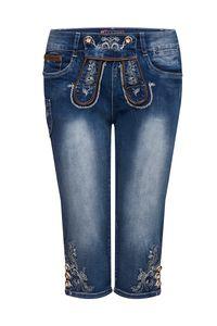 MOSER Damen Trachtenhose kniebund blau Stretch Franziska 007740 Größe: 40