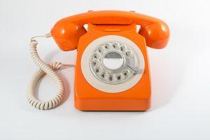 GPO Retro-Telefon im klassischen Design mit Drehscheibe; 746ROTARYORA