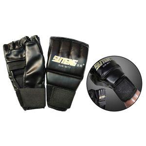 Gym MMA Muay Thai Trainings Boxsack Halb Mitts Sparring Boxen Handschuhe, für Frauen & Männer Farbe für Erwachsene Schwarz 1