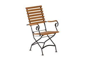 Schlossgarten Sessel, Gestell: schwarz Holz: braun