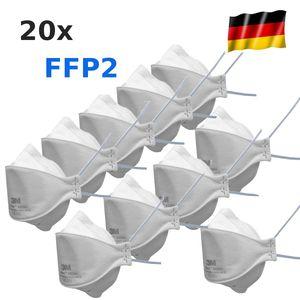 20x 3M FFP2 NR D Aura 9320+ Atemschutzmaske Mundschutz Maske ohne Ventil