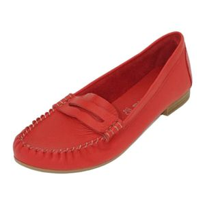 Tamaris Damen  Halbschuhe 1-24213-26 Rot 500 Red Leder, Groesse:39 EU