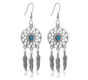Indianer Traumfänger Halskette und Ohrringe Western Set