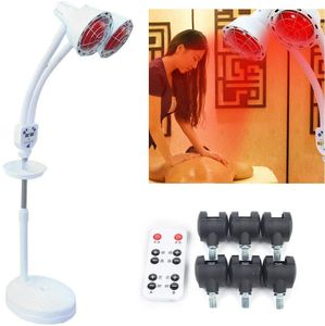 Multifunktional Infrarotlampe Wärmelampe 275W Strahler mit Rädern Schönheitssalon Stand Rotlicht Massagelampe