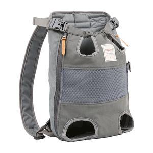 Komfortabler Hunde-Katzentrage-Rucksack, Puppy Pet Front Pack Head Out Legs Tail Out Tragetasche mit gepolsterter Schulter für Wanderungen im Freien Farbe Grau