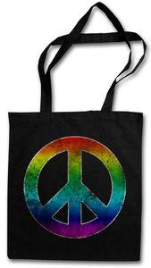 Rainbow Peace Symbol Einkaufstasche Stofftasche Jutebeutel Tragetasche