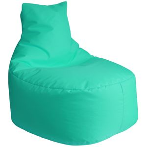 DILUMA Sitzsack Leni 80cm Türkis  Für Indoor & Outdoor  Bezug Wasserfest & Füllung Herausnehmbar Für Gaming, Terrasse, Garten