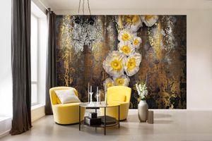 """Komar Fototapte """"Serafina"""", gelb/gold, 368 x 254 cm"""