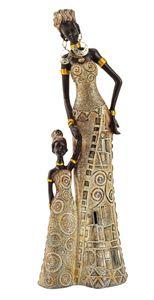 Afrikanerin mit Kind 11 x 31 cm Mutter Tochter Afrika Frauen Figur