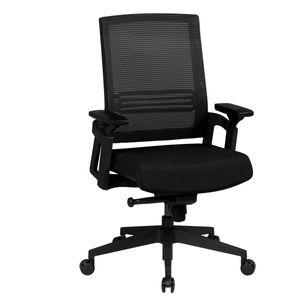 AMSTYLE Bürostuhl APOLLO A2 Stoffbezug Schreibtischstuhl Armlehne schwarz Chefsessel 120kg Drehstuhl Synchronmechanik