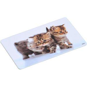 """Kesper Nachbildung-Brettchen, Motiv """"Katze"""", Melamin, 23,5x14,5 cm, 31220"""