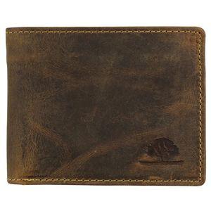 Greenburry Vintage 1705-RFID-25 Leder Geldbeutel mit Münzfach in dunkel braun