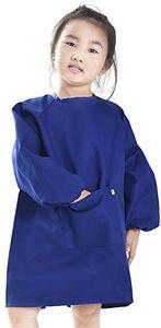 Malschürze, Kinder Bastelkittel, Kinderschürze  S( blau)