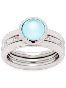 Leonardo 021328 Damen Ring Momento Edelstahl Silber blau 60 (19.1)