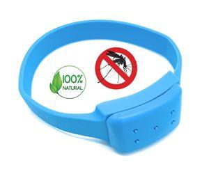 Premium Insektenschutz Anti-Mücken Armband Blau   100% natürliche Öle - DEET frei   Mückenarmband Moskito Mückenschutz   Schutz gegen Mosquito Indoor Outdoor   für Erwachsene und Kinder Camping Angeln