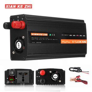 24V Peak 1500W Reiner Sinus Spannungswandler LCD Solar Power Inverter Wechselrichter