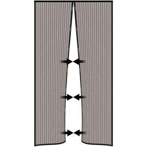 Nematek® Insektenschutz Fliegengitter Magnetvorhang für Türen bis 100 x 220 cm, individuell kürzbar, anthrazit