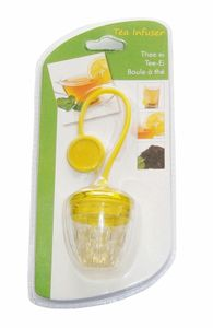 TEE-EI Silikon/Kunststoff grün Teekugel Teesieb Teefilter Teenetz Teezange 71