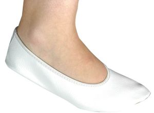 Lico G1 Damen und Mädchen Leder Gymnastikschuhe weiß, Leder Turnschuhe weiß