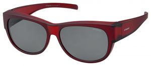 Polaroid sonnenbrille 9004/Smrd/Y2 unisex oval rot/grau