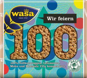 Wasa Knäckebrot Wir feiern 100 Jahre Mohn und Leinsamen 245g