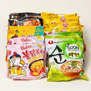 Koreanische 12er Ramen Suppe Box   Kennenlernbox mit 12 Koreanische Instantnudeln