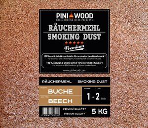 PINI 5 Kg Räuchemehl Buche 1-2 mm Smoking Dust Räucherspäne