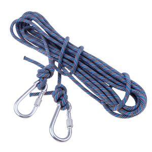 Kletterseil im Freien Rettungsseil Kletterausrüstung Fallschirmseil blau wie beschrieben