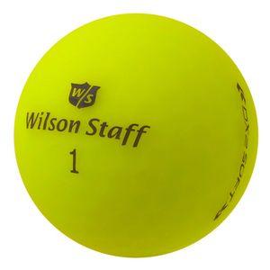12 x Wilson Staff DX2 Soft Optix - PearlSelection - matt gelb - Lakeballs