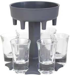6 Schuss Weinglas Spender Halter Bar Trinkspiele Party Cocktail Spender, grau