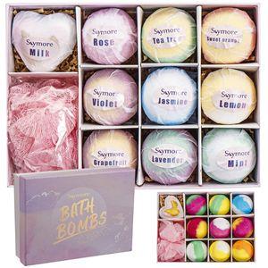 Skymore Badebomben Geschenk Set, Geschenk für Erntedankfest Weihnachten, Natürliche Badekugeln für Hautpflege und Entspannung, Geschenkset für Mama, Frau, Freundin