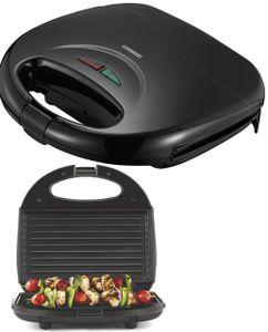 Melissa 16240106 Sandwich-Panini-Toaster Maker schwarz 750 Watt Grillplatte